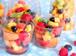 Ensalada de fruta con Lima y Menta