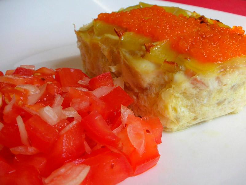 Pudding de salmón al microondas