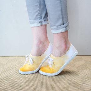 DIY Teñir zapatillas de verano tipo Victoria