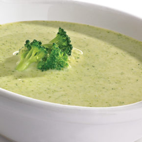 Crema de brócoli con queso
