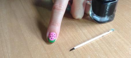 Tutorial DIY uñas de sandía