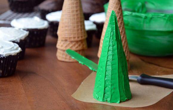 Cupcakes Árbol de Navidad
