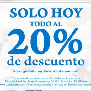 Sábado de descuentos del 20% y envío gratuito en Zara Home