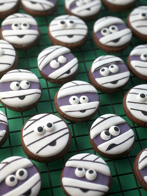 Mini galletas de momias para Halloween Trucos Dulces