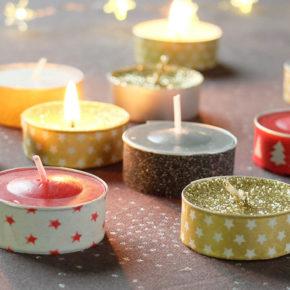 Cómo decorar las velas con Washi Tape