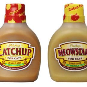 Ketchup y mostaza para gatos ¡existe!