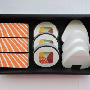 Notas adhesivas de Sushi